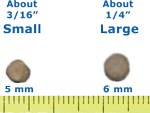 Small and Large Pellet Sizes